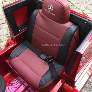 Электромобиль Mercedes-Benz G63 AMG HL168 LUX красный глянец (колеса резина, сиденье кожа, пульт, музыка)