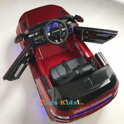 Электромобиль Range Rover Luxury SX118-S черный (колеса резина, кресло кожа, пульт, музыка)