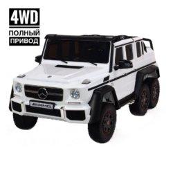 Электромобиль Mercedes-Benz G63-AMG 4WD ABL1801 белый (шестиколесный, привод на 4 колеса, музыка, пульт управления)