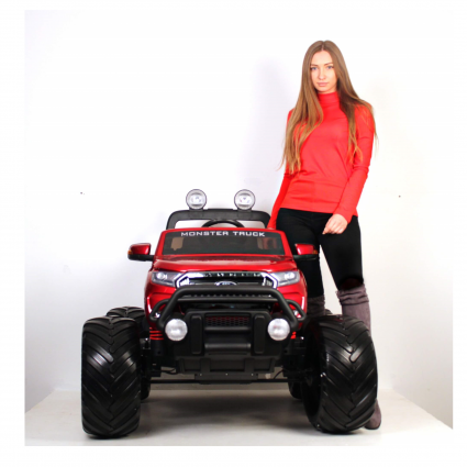 Электромобиль Ford Ranger MONSTER TRUCK 4WD DK-MT550 синий (2х местный, колеса резина, кресло кожа, пульт, музыка)