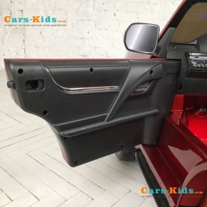 Электромобиль LEXUS LX 570 4WD красный (легко съемный аккумулятор, 2х местный, резина, кожа, пульт, музыка)